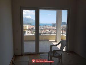 ts3126 Trosoban stan sa pogledom na more, novogradnja, Budva, Budva
